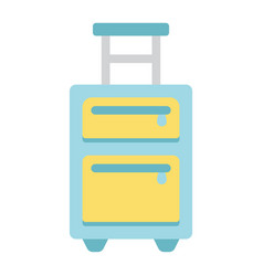 luggage flat icon travel and tourism vector image vector image