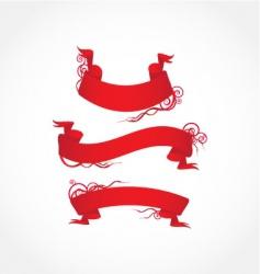 red ribbon vector image vector image