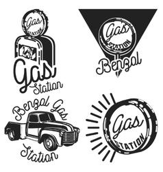 Vintage gas station emblems vector image vector image