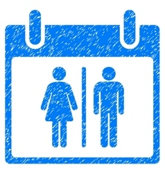 Water closet calendar day grainy texture icon vector