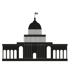 white house congress black icon on white vector image vector image