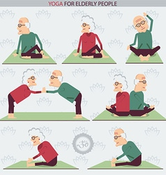 Yoga for Elderly people vector image vector image
