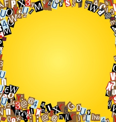 bubble of letters from newspaper vector image