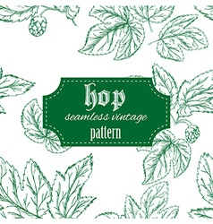 hand drawn vintage seamless pattern with leaves vector image