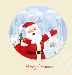 Invitation card with Santa Claus for your design vector image