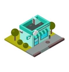 Isometric pharmacy building vector image