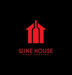 wine house logo vector image vector image