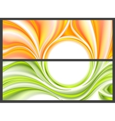 Abstract bright smooth waves pattern vector image vector image