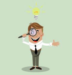 businessman has found a solution vector image vector image