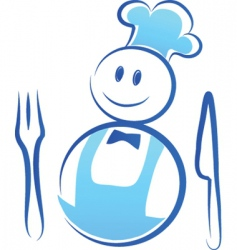 chef and cook vector image vector image