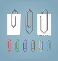clip on blue background vector image