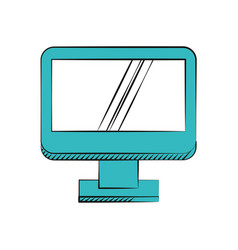 computer screen device technology vector image