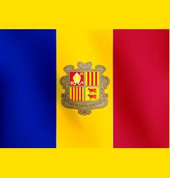 flag of andorra - vector image vector image