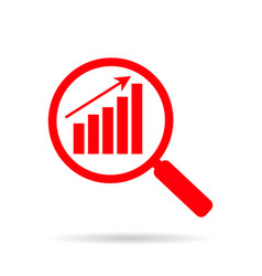 research market optimization icon business vector image
