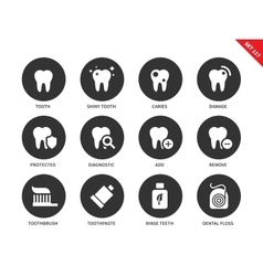 Teeth icons on white backround vector image