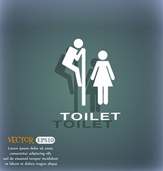 toilet icon symbol on the blue-green abstract vector image vector image