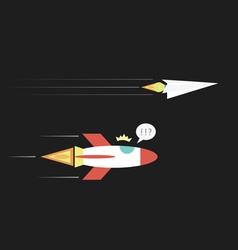 37paperplanerocket vector image vector image
