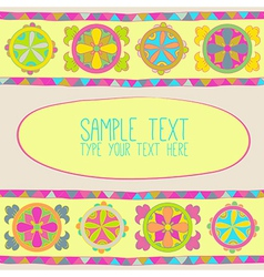 Abstract flower and pattern of triangles vector