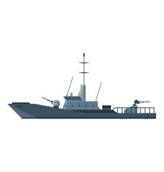 armored military ship heavy special battleship vector image
