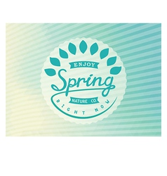 Authors design label spring vector