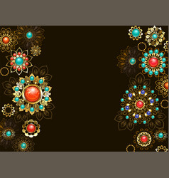 Background with ethnic ornaments vector