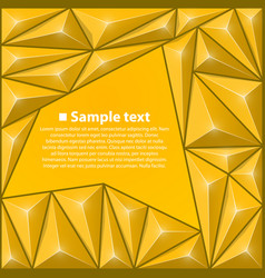 background with triangles yellow vector image