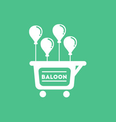 Balloons sell cart vector