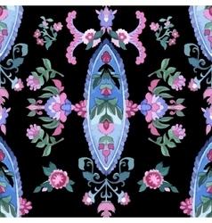 Beautiful Watercolor paisley seamless pattern vector image