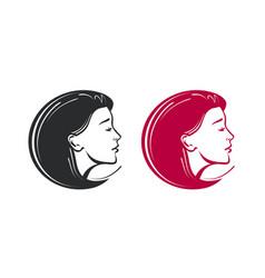 Beauty salon spa barbershop logo beautiful vector