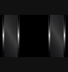Black background with metal grille vector