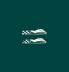 boat racing logo icon vector image