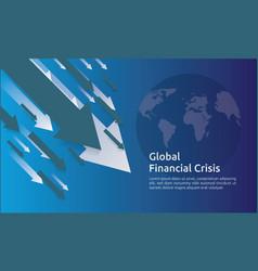 Business finance crisis concept money fall down vector