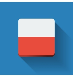 Button with flag of Poland vector