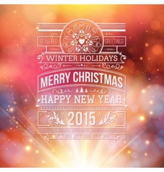 Christmas typography for your winter holidays vector image