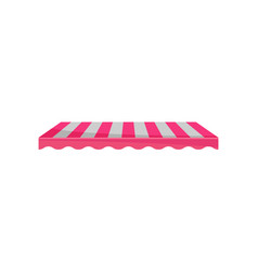 Classic canopy awning striped sunblind design vector