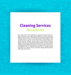 Cleaning services paper template vector