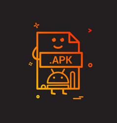 Computer apk file format type icon design vector