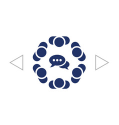 Conference icon flat design style vector