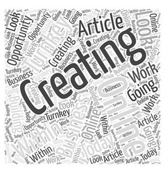 Creating online turnkey business opportunity word vector