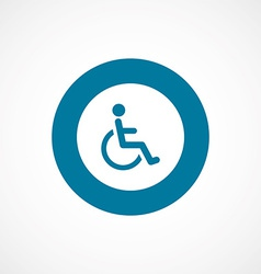 Cripple bold blue border circle icon vector