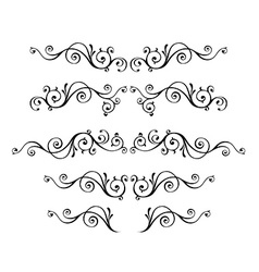 Curled Victorian calligraphic design frame vector