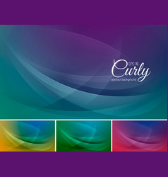 curly abstract background vector image