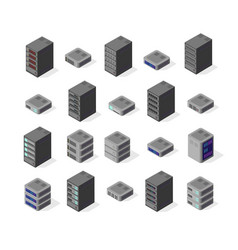 data server network vector image