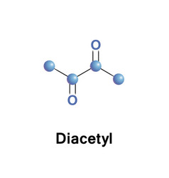 Diacetyl or butanedione is an organic compound vector