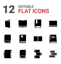 Dictionary icons vector