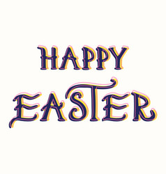 Easter hand drawn calligraphy vector
