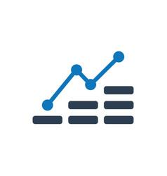 Economic growth icon vector
