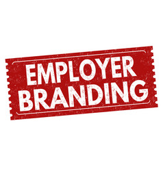 Employer branding sign or stamp vector
