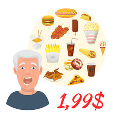 fast food sale special offer vector image