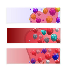 Festive balloons on a background of translucent vector